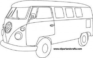 VW Camper Bus Coloring Page