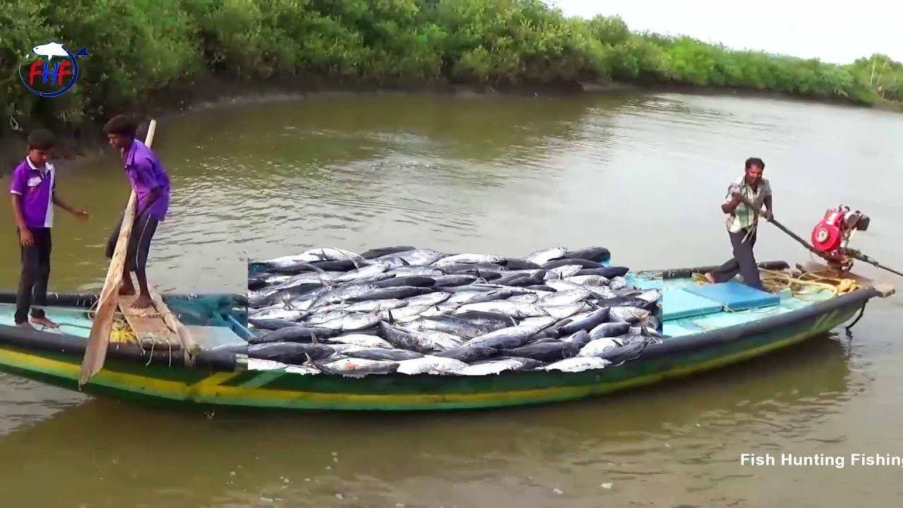 Boat Fishing Fish Hunting By Ganga Putra S Fish Trap In Beautiful Rive Beautiful