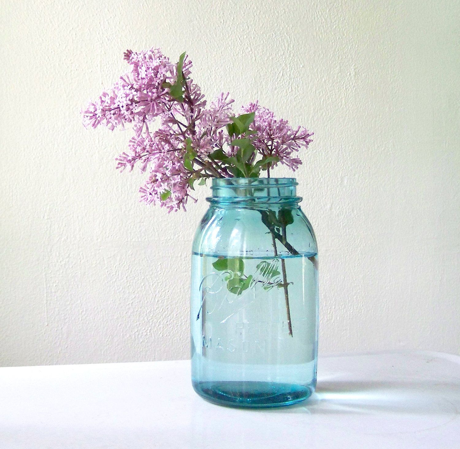 Blue Mason Jar By Ball Quart Size Wedding Decor By Midwestfinds Quot I Do Quot Blue Mason Jars