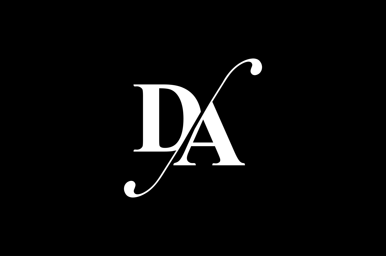 Da Monogram Logo Design By Vectorseller Thehungryjpeg Com Logo Spon Monogram Da Thehungryjpeg Adver In 2020 Monogram Logo Design Monogram Logo Logo Design