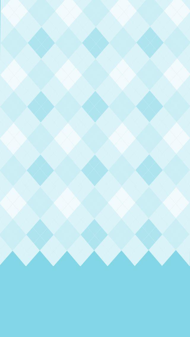 Blue Chevron Pretty HD Wallpaper For IPhone