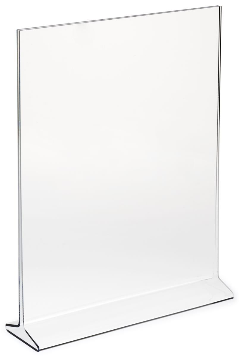 Workshop Series 8 5 X 11 Acrylic Sign Holder Tabletop Top Insert T Style Clear Sign Holder Acrylic Sign Acrylic Panels