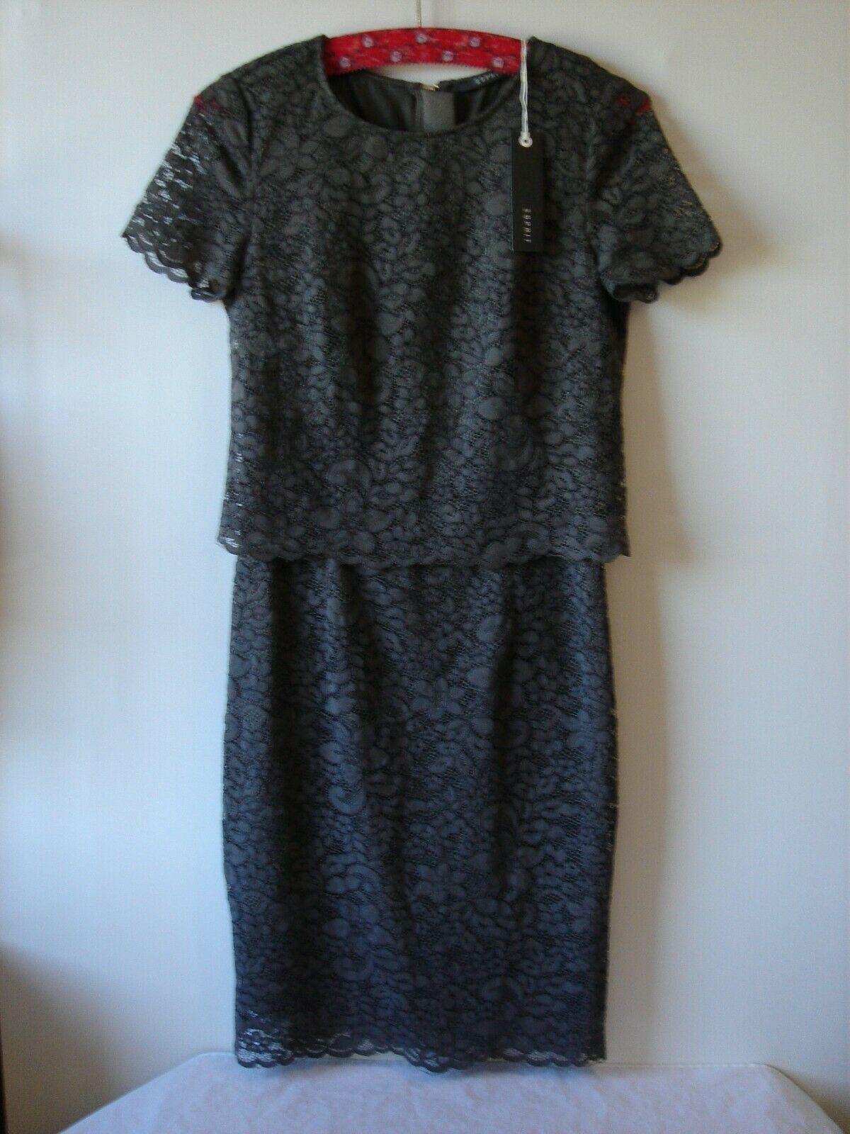 Esprit Etui-Kleid für festliche Anlässe Taupe Größe 18 Neu mit
