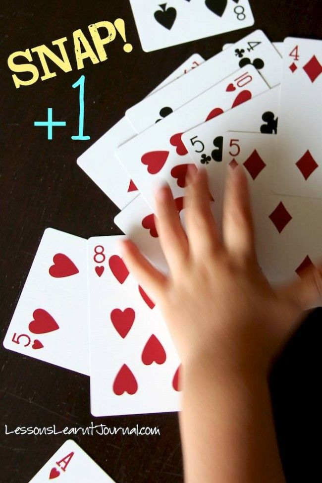Math Game: Snap Plus One   Mathe, Arbeitsblätter mathe und Kind