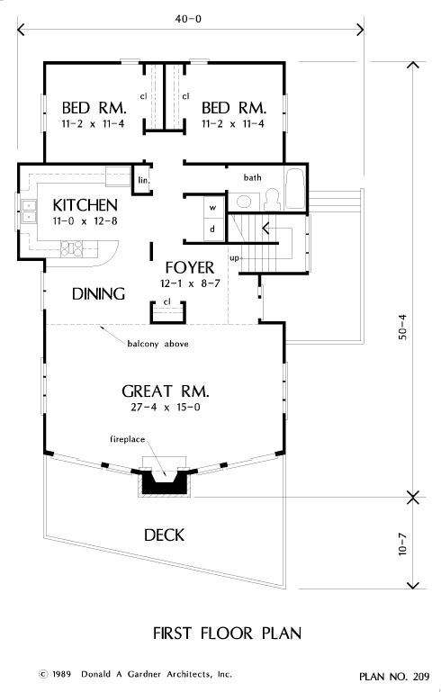 Home Plan The Northwood By Donald A Gardner Architects