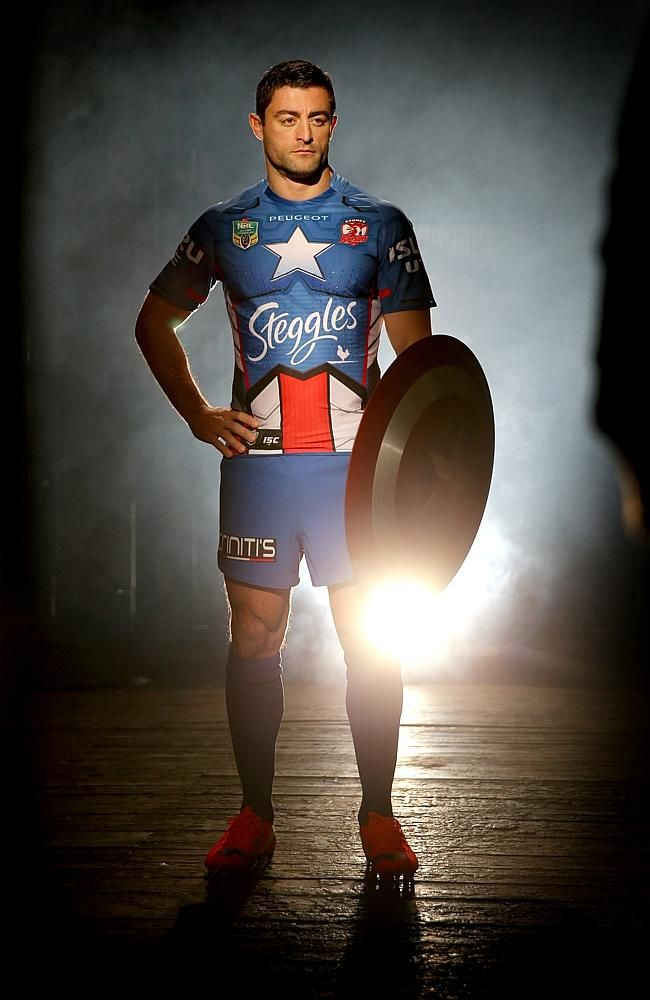 23809684c3e Sydney Roosters NRL super hero jersey | NRL | Sports marketing ...