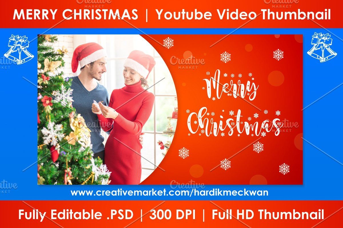 Christmas Youtube Video Thumbnail In 2020 Youtube Video Thumbnail Youtube Videos Youtube