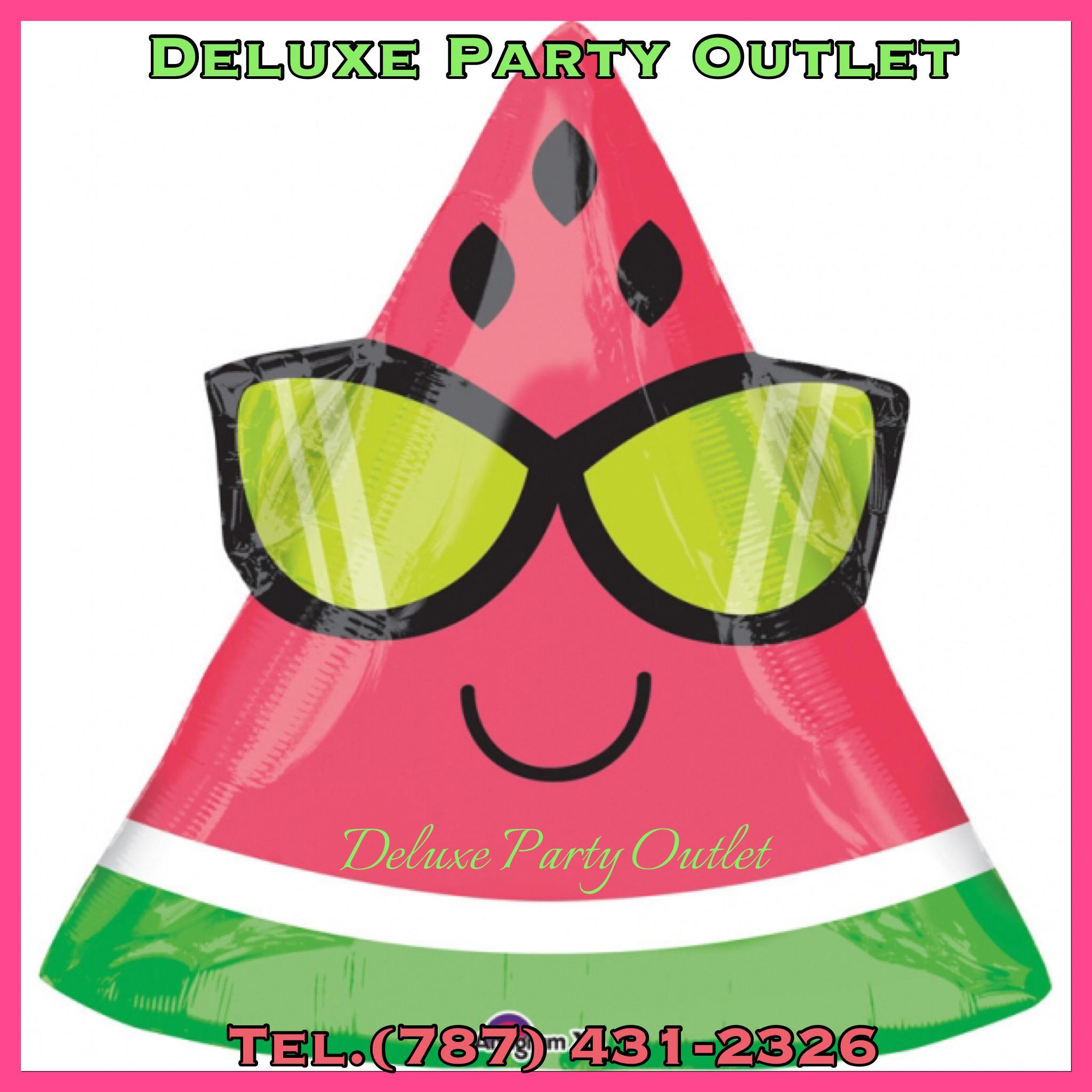 Jr. Shape Watermelon balloons- globo de melon
