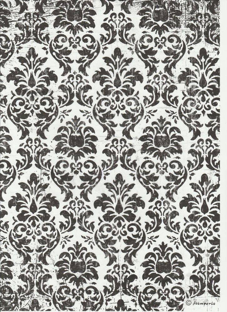 Rice Paper for Decoupage Scrapbooking Embroidered Flowers  A4 ITD R469