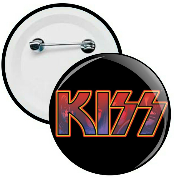 L033 - Botons e Chaveiros - Kiss - Wathsapp: (61) 9 9129-7213
