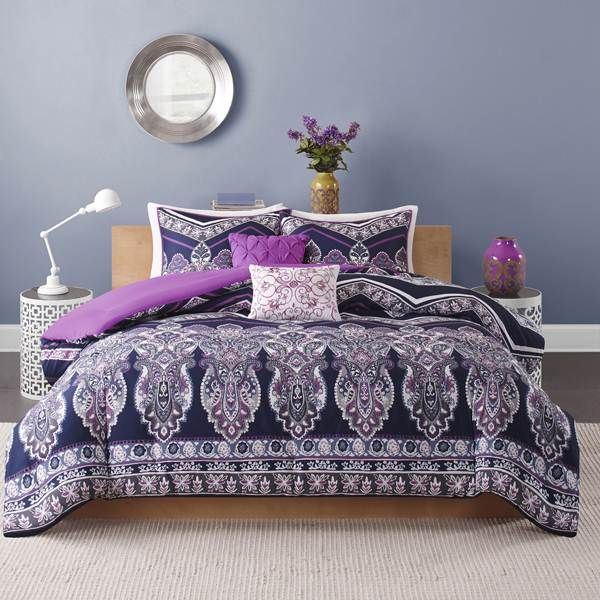 project comforter sewn sets purple bedding today style moroccan