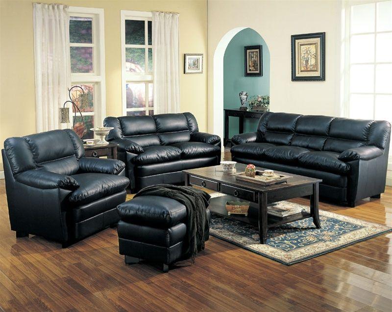 27++ Black leather living room set info