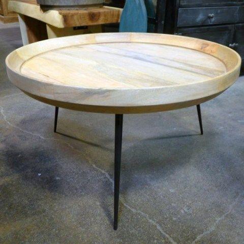 9815bc044cbd5 Iron Leg Round Coffee Table - Nadeau Houston
