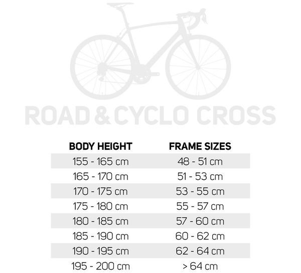 Frame Size Table Road Bike