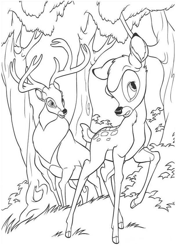 Bambi Coloring Page 33 Is A From BookLet Your Children Express Their Imagination When They Color The