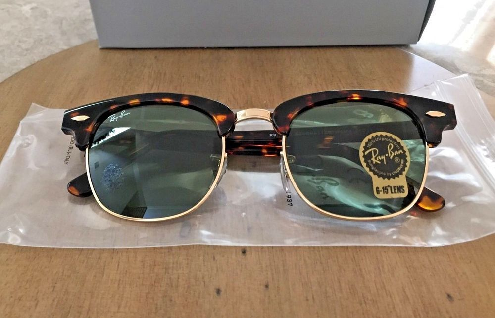 59d16dd8cd9d Ray Ban Clubmaster Sunglasses RB3016   Tortoise w  Green Lens   51mm            fashion  clothing  shoes  accessories  unisexclothingshoesaccs ...