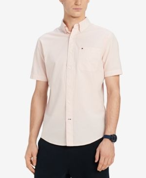Tommy Hilfiger Men's Wain Wright Solid Classic Fit Shirt
