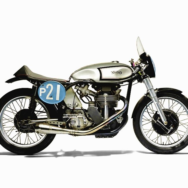 """1961 Norton 350 Manx Racing Motorcycle 