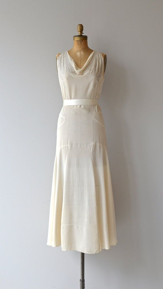 Stork Club dress • vintage 1930s wedding dress • silk 30s wedding ...