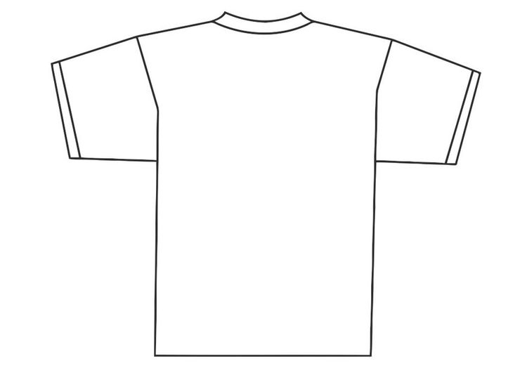 Coloring Page Back Of T Shirt