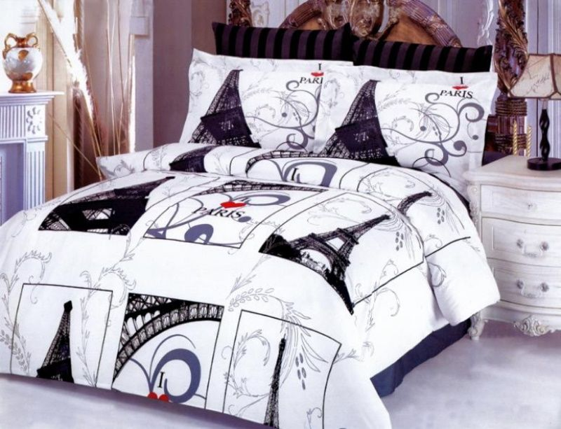 paris themed bedding sets |  these bedding sets with a solid