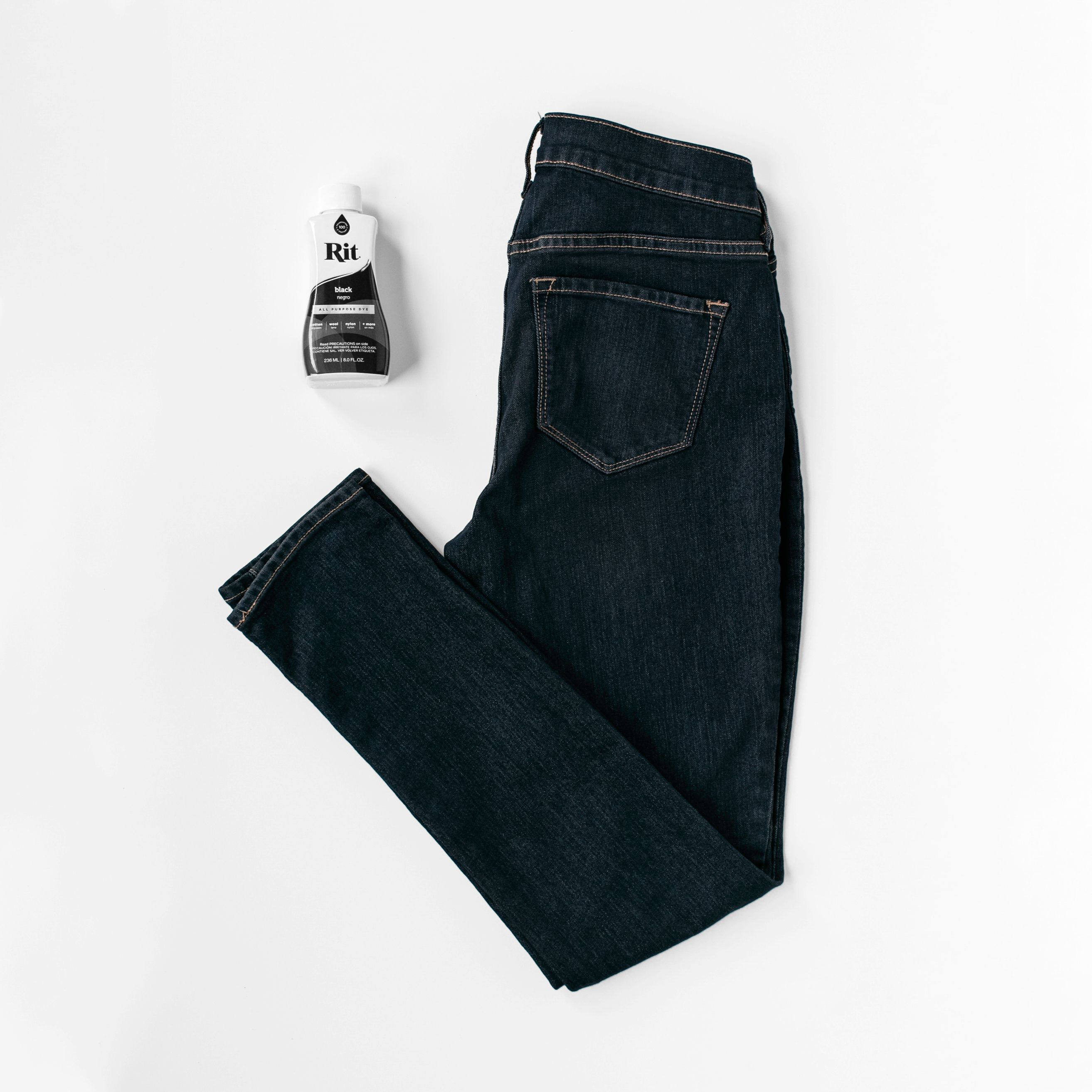 how to make black jeans darker without dye