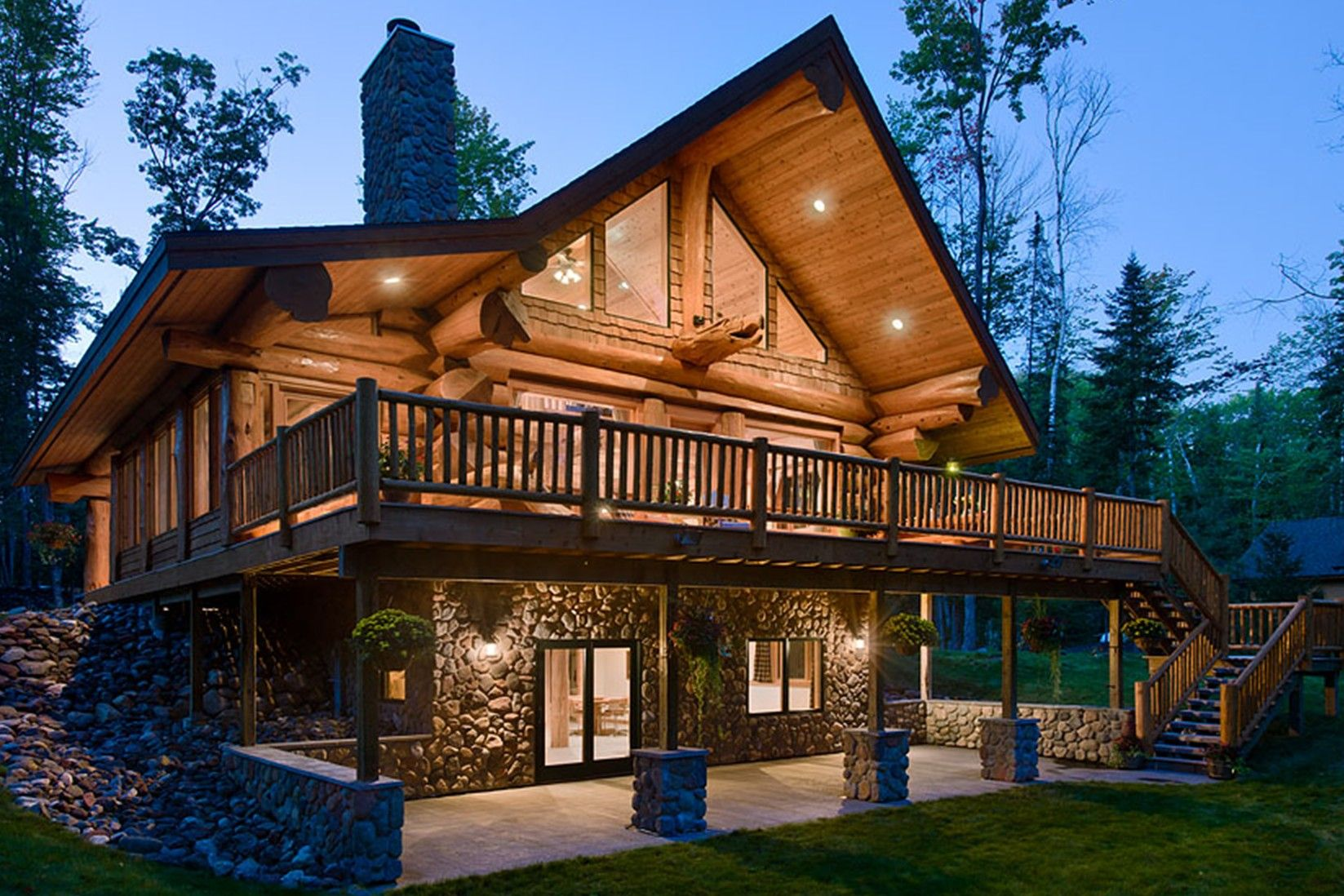 Cottage building plan: The Winchester | Log homes, Log cabin homes ...