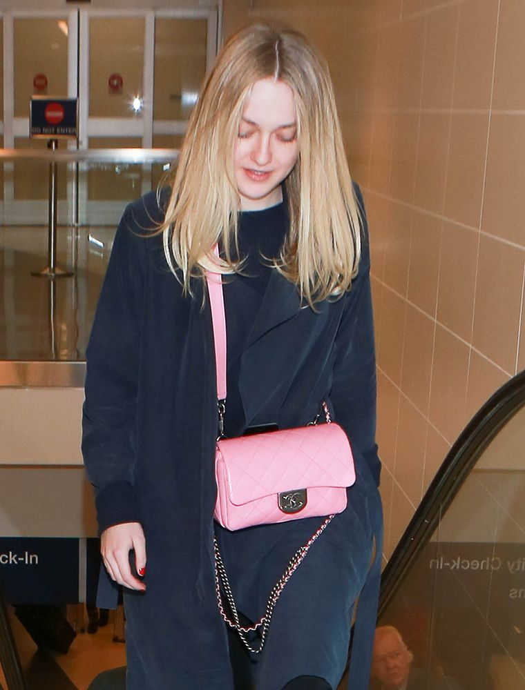 a37ef04333d0 Dakota Fanning Chanel Classic Flap | celebrity bags in 2019 | Chanel ...