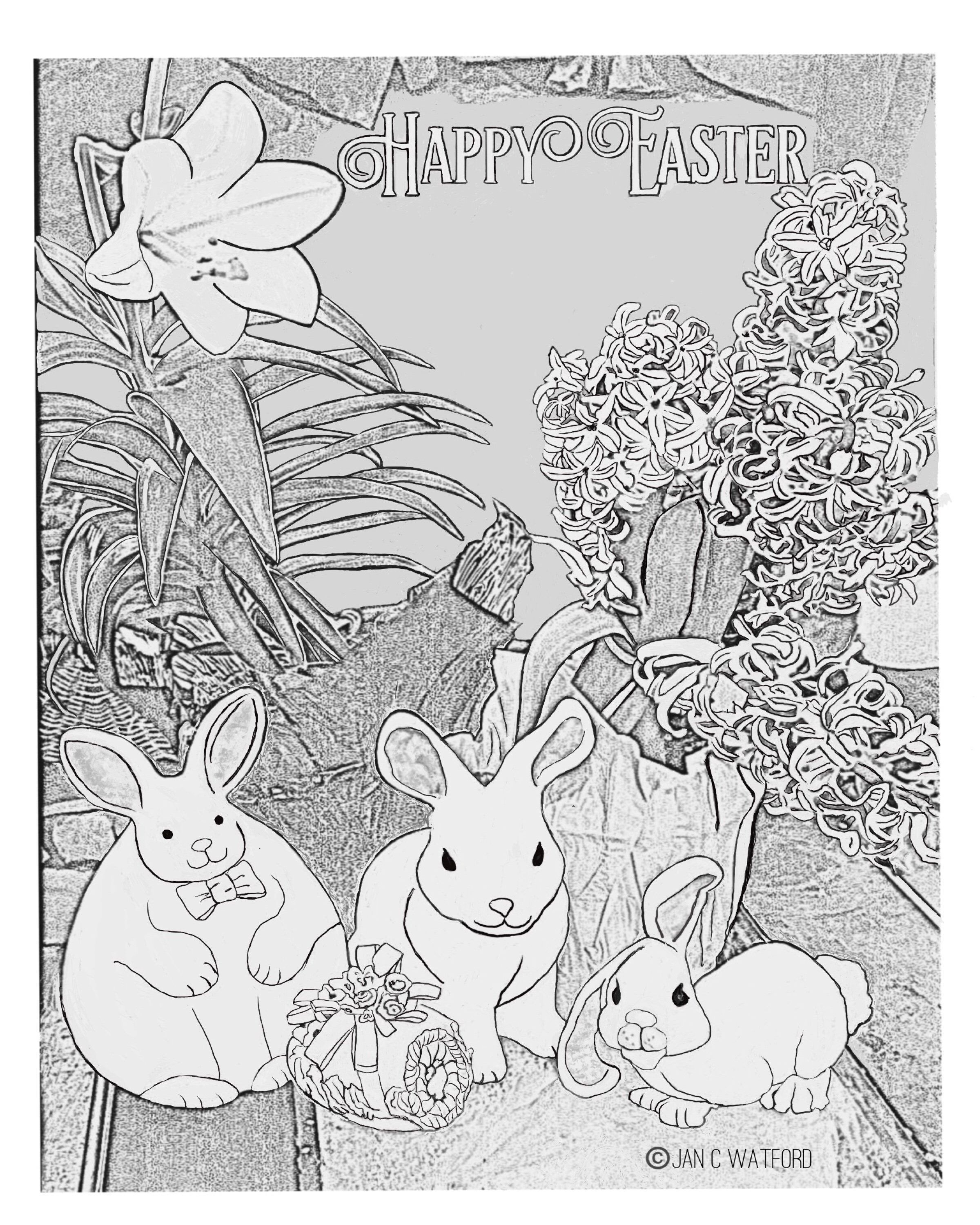 18+ Happy easter coloring pages for adults inspirations