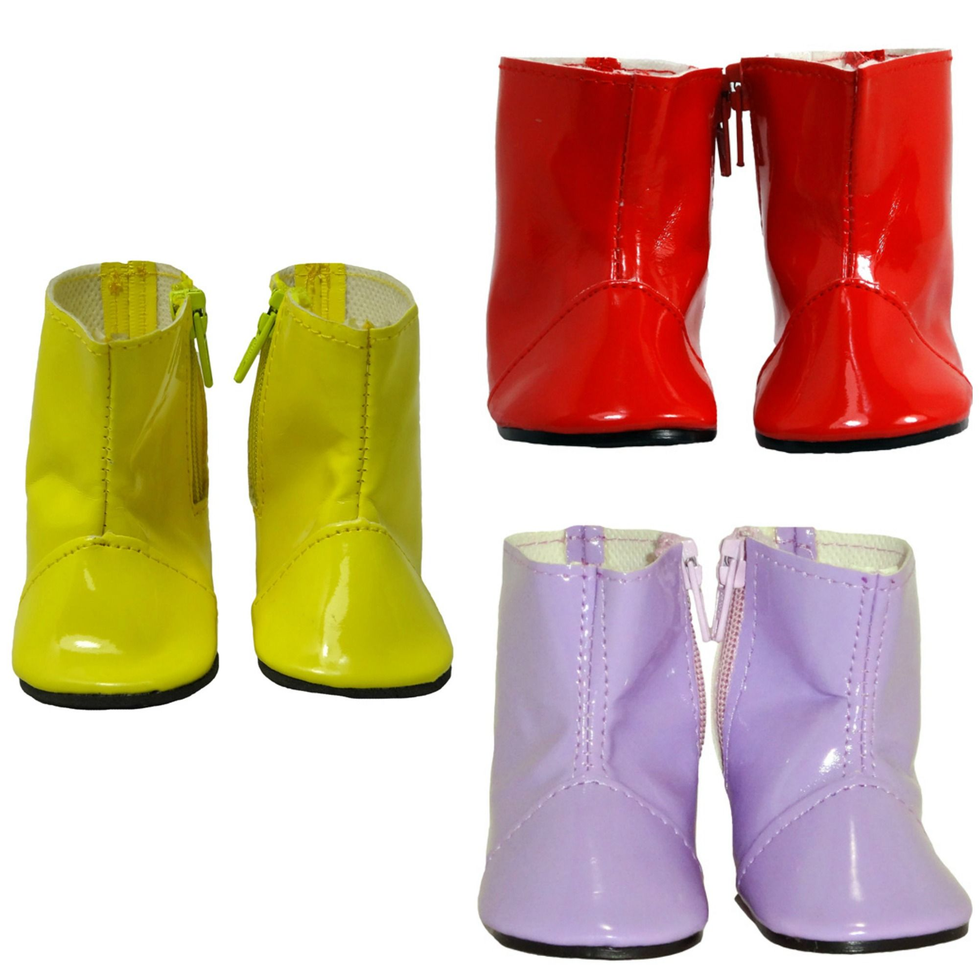 These rain boots have a side zip to make it easier to pull them on