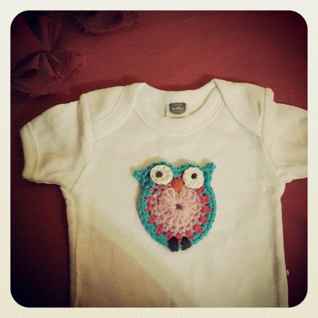 Crochet owl applique pattern - free | Hekel hoekie | Pinterest ...