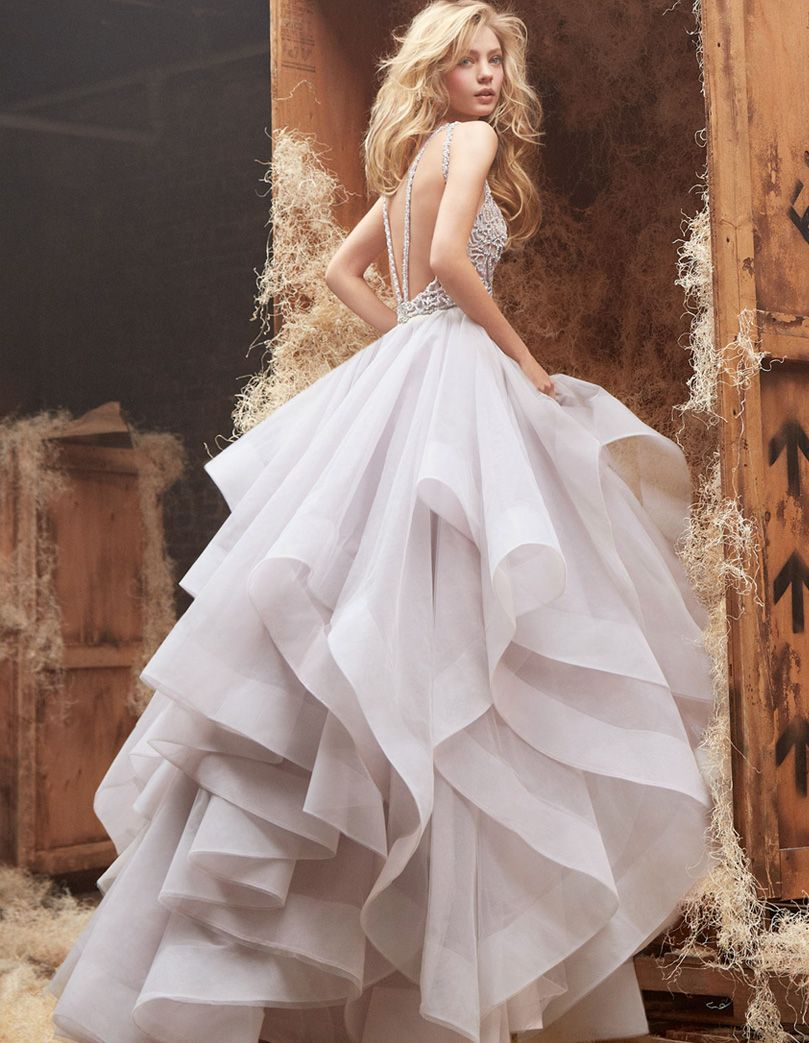With A Voluminous Skirt And Beaded Bodice The Hayley Paige Dori Wedding Dress Offers Couture Inspired Elegance For Modern Bride That Wants To Live