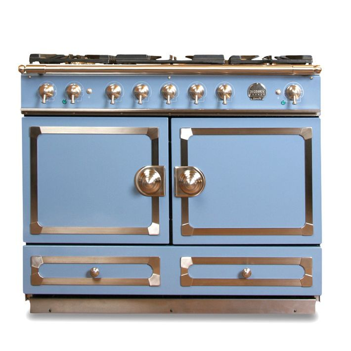 La Cornue Cornufe 110 Provence Blue With Stainless Steel Polished Br