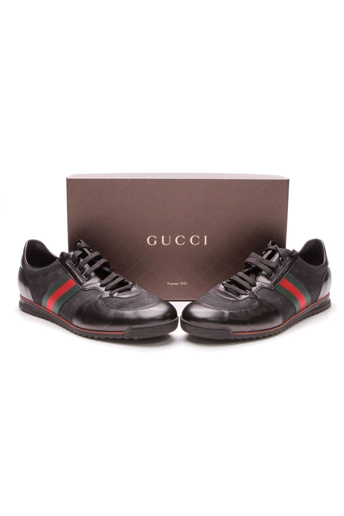 4ab24fc6d30 Gucci SL73 Web Men s Sneakers - Black GG Canvas
