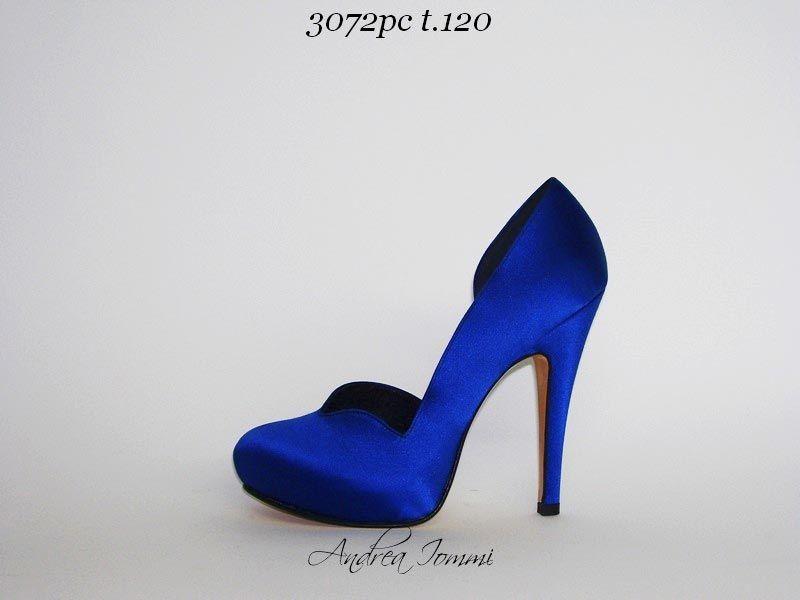 scarpe da cerimonia blu elettrico con platform a6773d5acdd