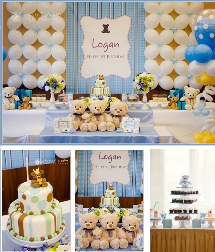 Boy Baptism Party Ideas Christening Decorations For Boy