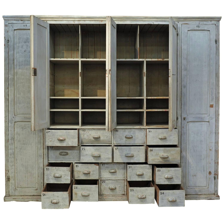 Textile Factory Pine Cabinet Original Cabinet 1920s