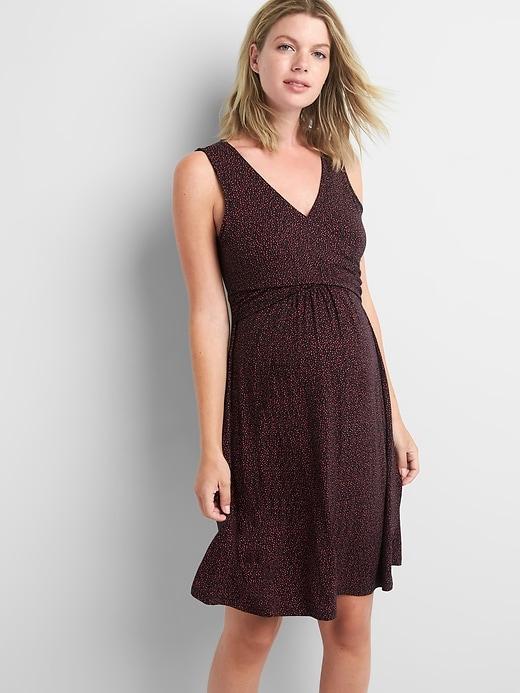 68651967143 Maternity Sleeveless Crossover Dress | Products | Nursing tops ...