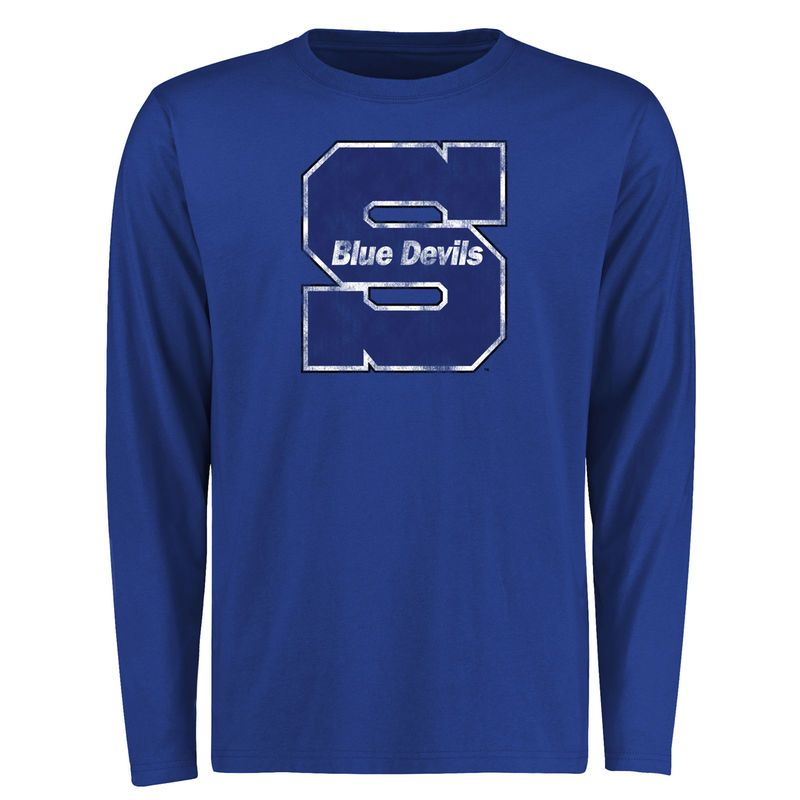 Wisconsin Stout Blue Devils Big & Tall Classic Primary Long Sleeve T-Shirt - Royal