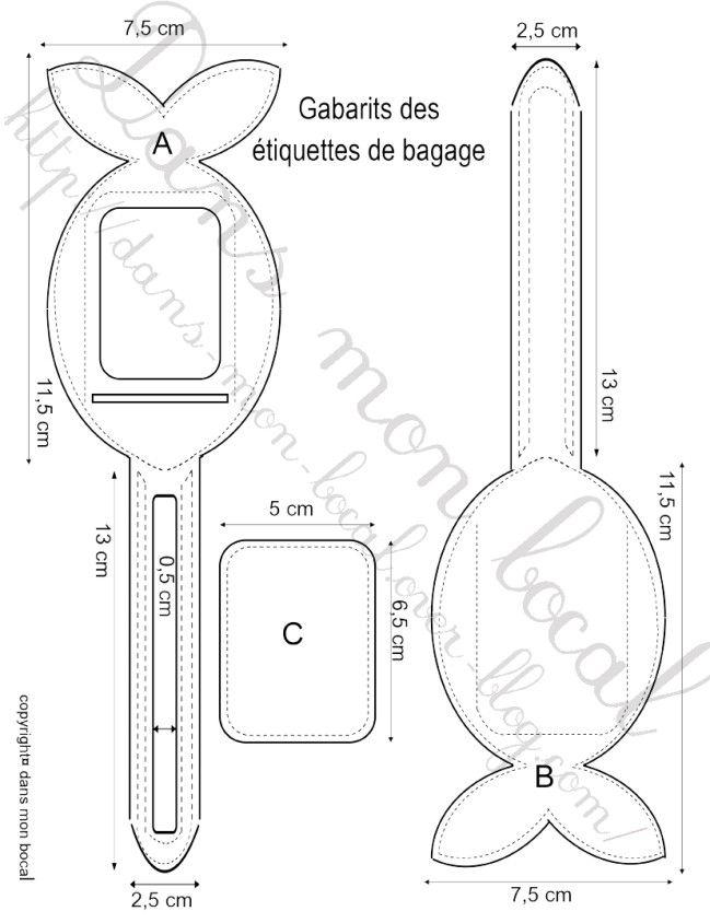 Tuto L étiquette De Bagage En Forme De Poisson Dans Mon Bocal Etiquette Bagage étiquette Cartable étiquette Valise