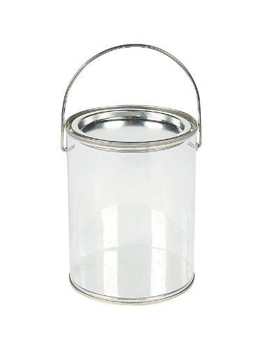 Plastic Clear Paint Can Container Craft Decorating Artist Buckets Great For Party Or Baby Shower Decorations Paint Buckets Favor Containers Art Party Favors
