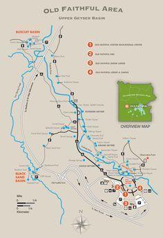 Old Faithful Area Trail Map - Yellowstone National Park ...