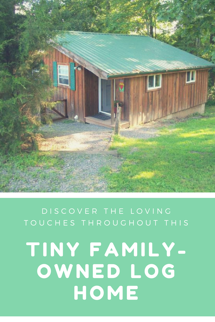 Discover the loving touches throughout this tiny family-owned log home