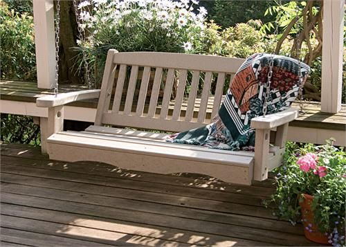 Porch Swing Made From Poly Resin Lasts Forever And No