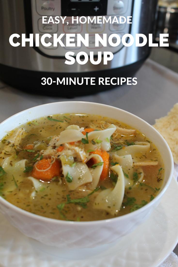 Chicken Noodle Soup Instant Pot Stove Top Recipe Chicken Noodle Soup Instant Pot Chicken Noodle Soup Instant Pot Soup Recipes
