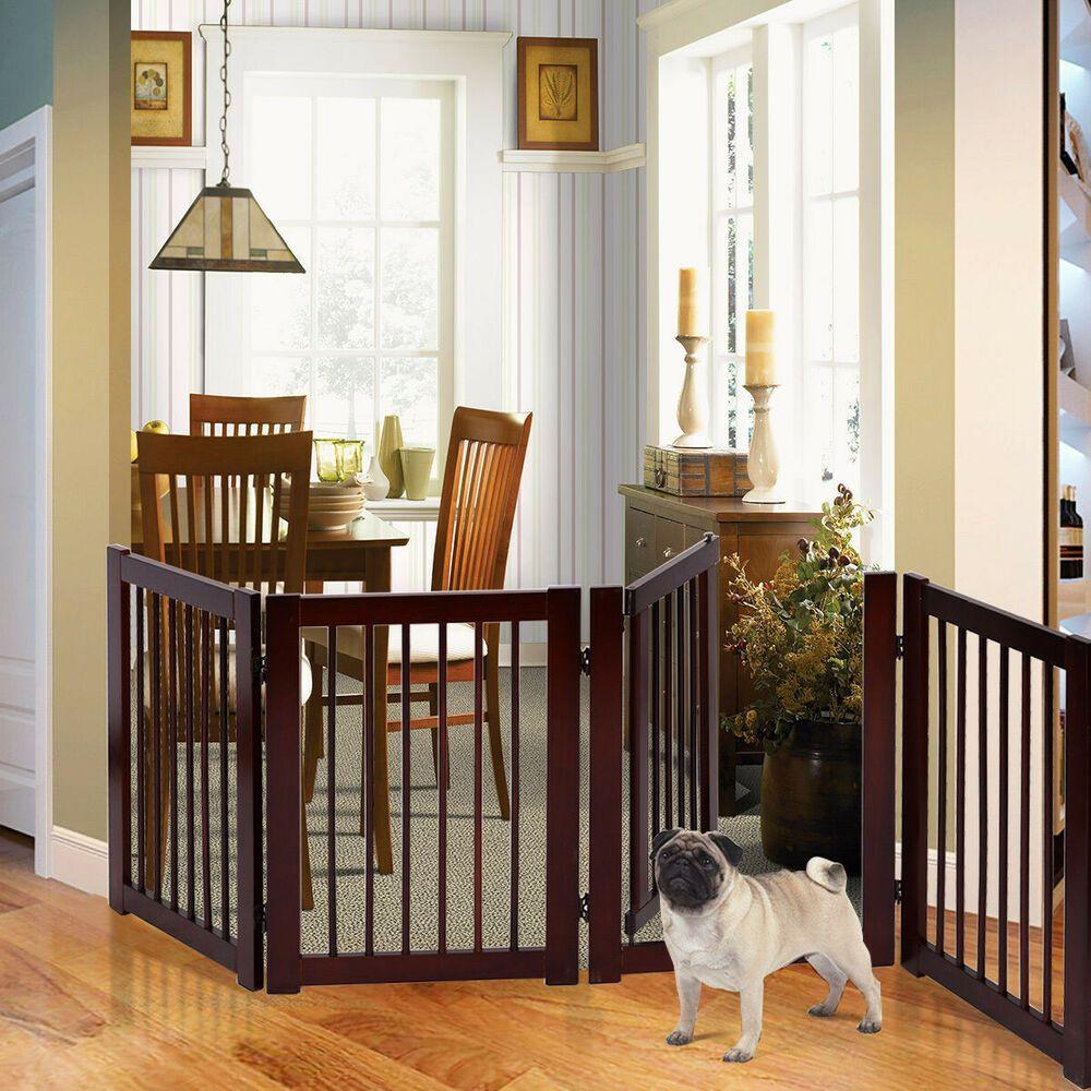 "30"" Configurable Folding 4 Panel Wood Fence' pet supplies"