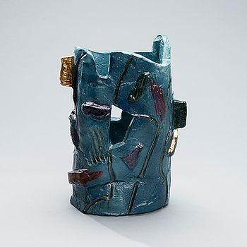 PAULI PARTANEN, A CERAMIC SCULPTURE. Signed Partanen -89. #bukowskis #bukowskismarket #design #scandinavia #ceramics #paulipartanen