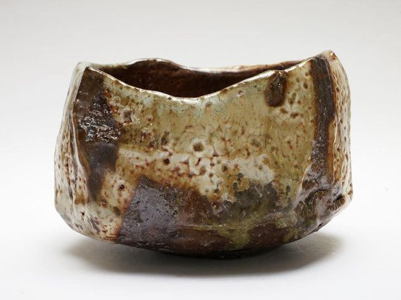 Faceted Shino Tea Bowl by elenarenker on Etsy