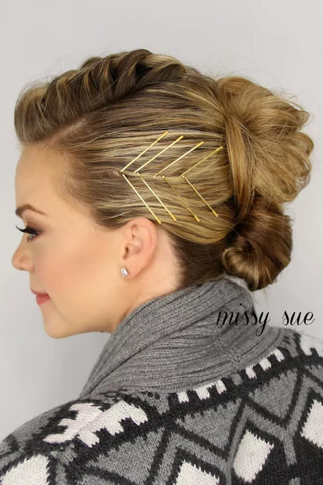 18 Cute Bobby Pin Hairstyles That Are Easy To Do Hair Styles Bobby Pin Hairstyles Hairstyles With Glasses