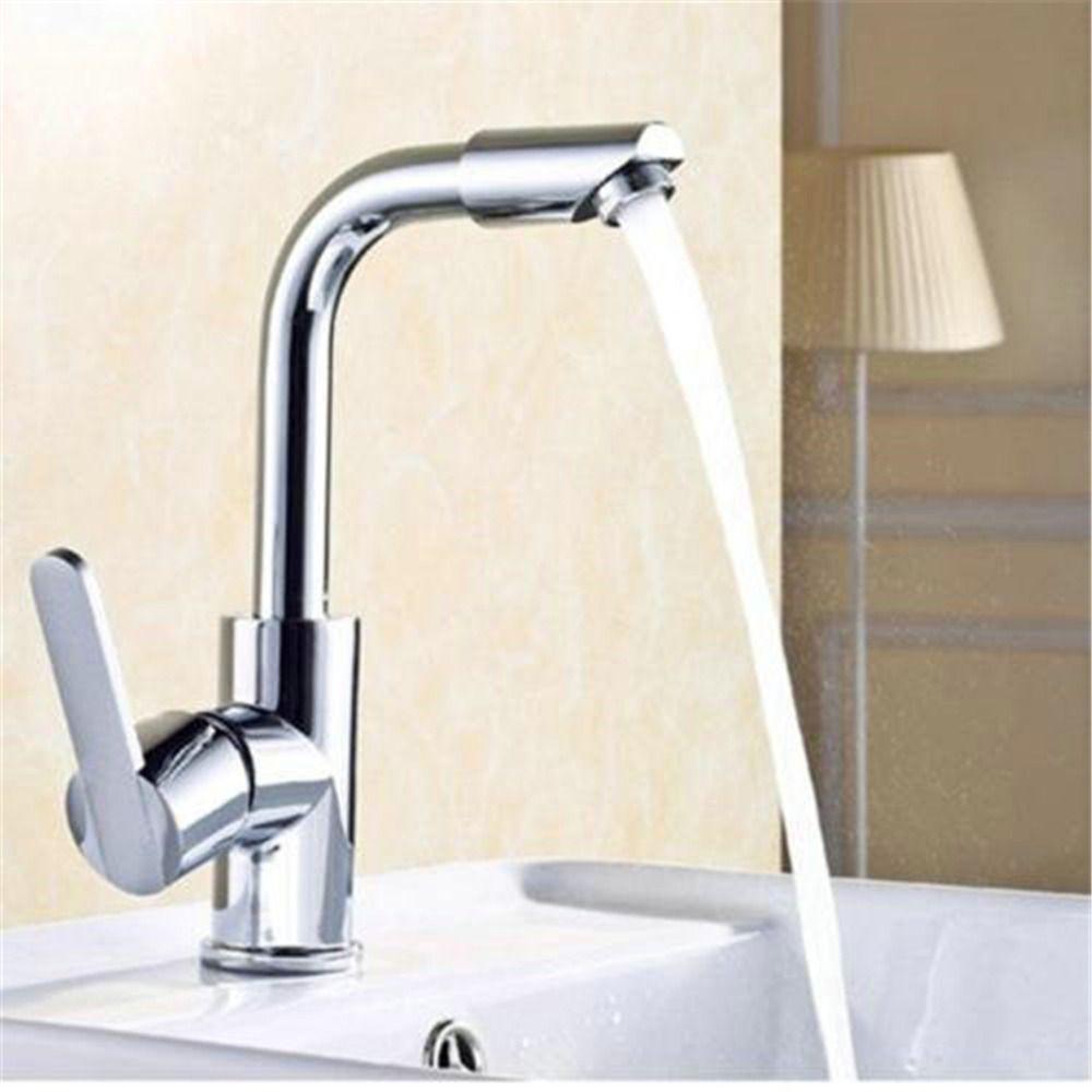 Modern Luxury Waterfall Bathroom Faucet Kitchen Mixer Lavatory ...